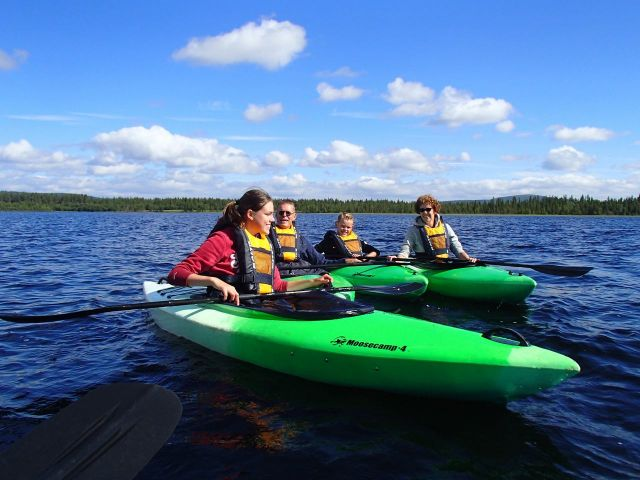 Kayaking in Lapland